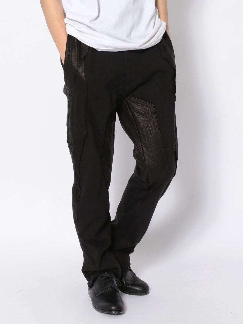 ROYAL FLASH TT/ティーティー/LeatherPatchPT/レザーパッチパンツ ロイヤルフラッシュ パンツ/ジーンズ フルレングス ブラック【送料無料】