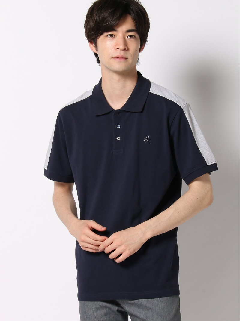 agnes b. HOMME HOMME/(M)JFB2 POLO ポロシャツ アニエスベー カットソー ポロシャツ ネイビー グレー【送料無料】