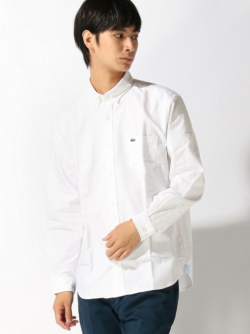LACOSTE コットンオックスフォードシャツ (長袖) ラコステ シャツ/ブラウス【送料無料】
