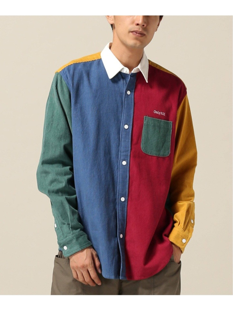 ONLY NY ONLY NY CORDUROY COLOR BLOCK SHIRT ウィズム シャツ/ブラウス 長袖シャツ【送料無料】