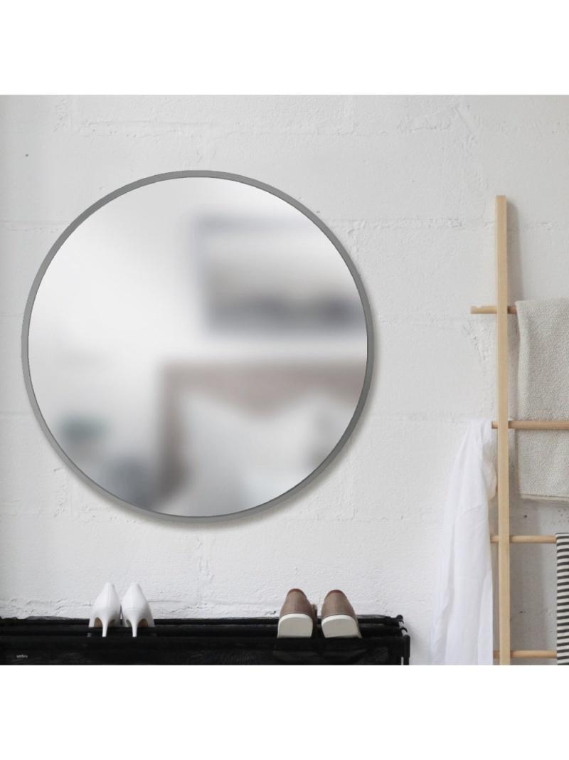 umbra umbra/ハブ ミラー 94×94cm グレー アントレスクエア 生活雑貨【送料無料】