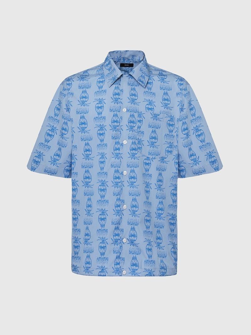 DIESEL S-ROHAD-C ディーゼル シャツ/ブラウス ワイシャツ ブルー グリーン【送料無料】
