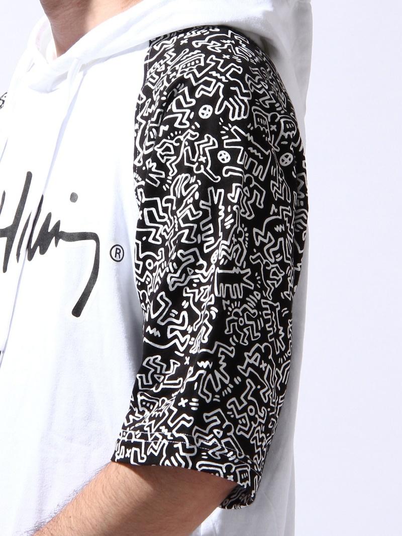 WEGO(M)Keith Haring T-parka我们前进针织