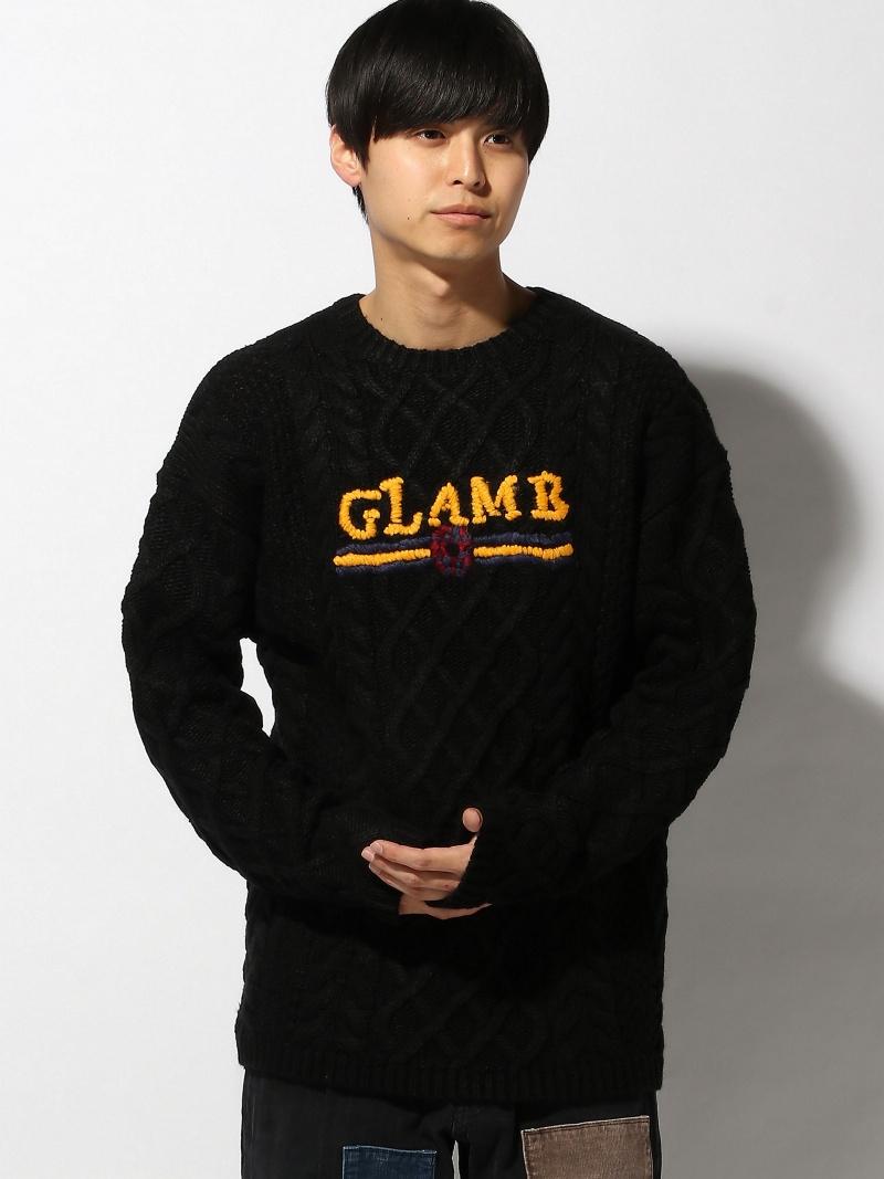 glamb Karl cable knit グラム ニット 長袖ニット ブラック カーキ【送料無料】