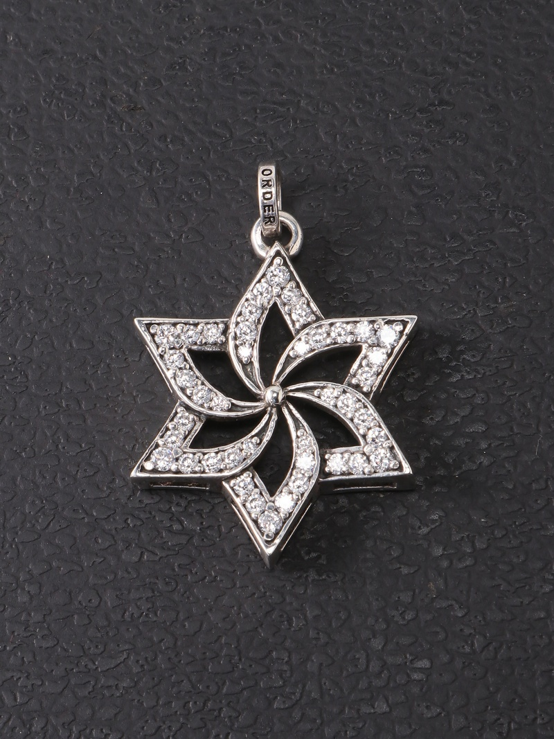 【SALE/40%OFF】ROYAL ORDER (U)star cross with CZ on borders ロイヤルオーダー アクセサリー【RBA_S】【RBA_E】【送料無料】
