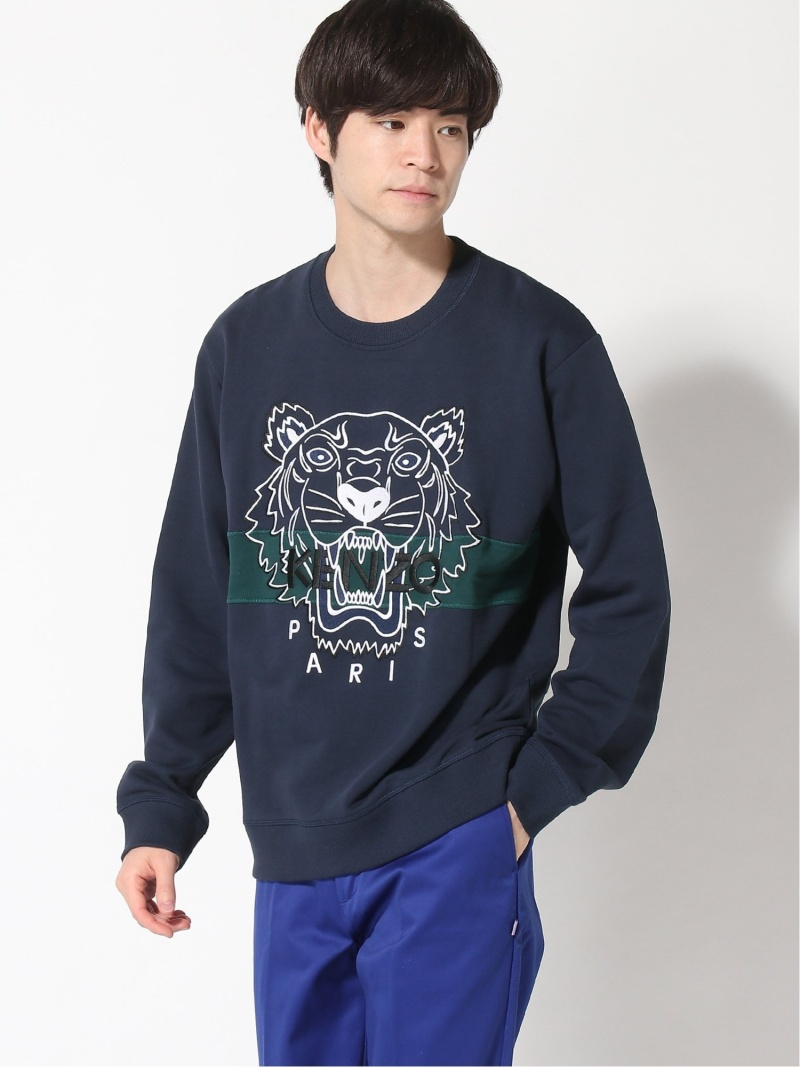 KENZO (M)FW18 Urban Tiger Sweatshirt ケンゾー カットソー スウェット ネイビー【送料無料】