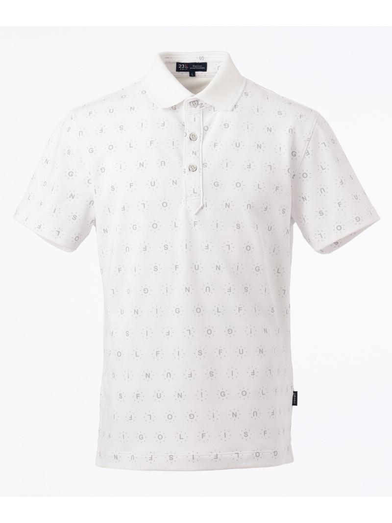 23区GOLFMENS GOLF IS FUNプリント ポロシャツ ニジュウサンクゴルフ カットソー【送料無料】
