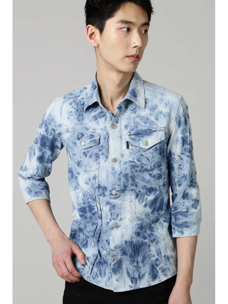 TORNADO MART TORNADOMART∴スカイブリーチデニムシャツブルゾン トルネードマート シャツ/ブラウス 半袖シャツ ブルー【送料無料】