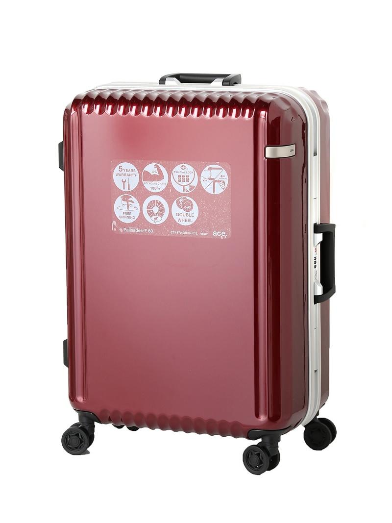 ace ace/パリセイドF 61リットル 4ー5日間のご旅行に!フレームタイプスーツケース 05572 エースバッグズアンドラゲッジ バッグ【送料無料】