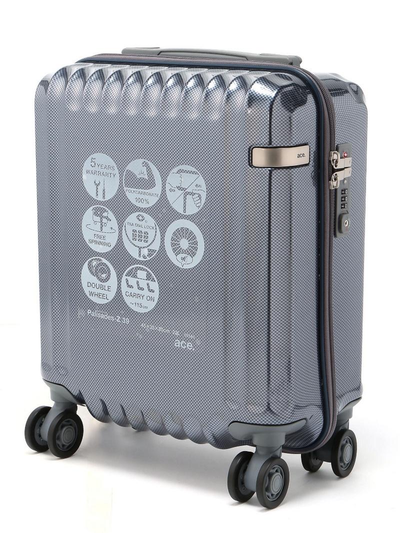 ace ace/ パリセイドZ スーツケース 22リットル 300円コインロッカーサイズに対応/国内線100席未満機内持込サイズ 日帰りー1泊程度の旅行に 05580 エース【送料無料】
