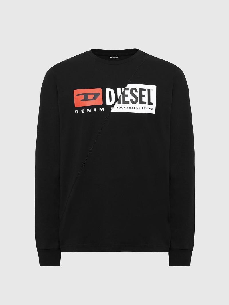 DIESEL T-DIEGO-LS-CUTY ディーゼル カットソー Tシャツ ブラック ホワイト【送料無料】