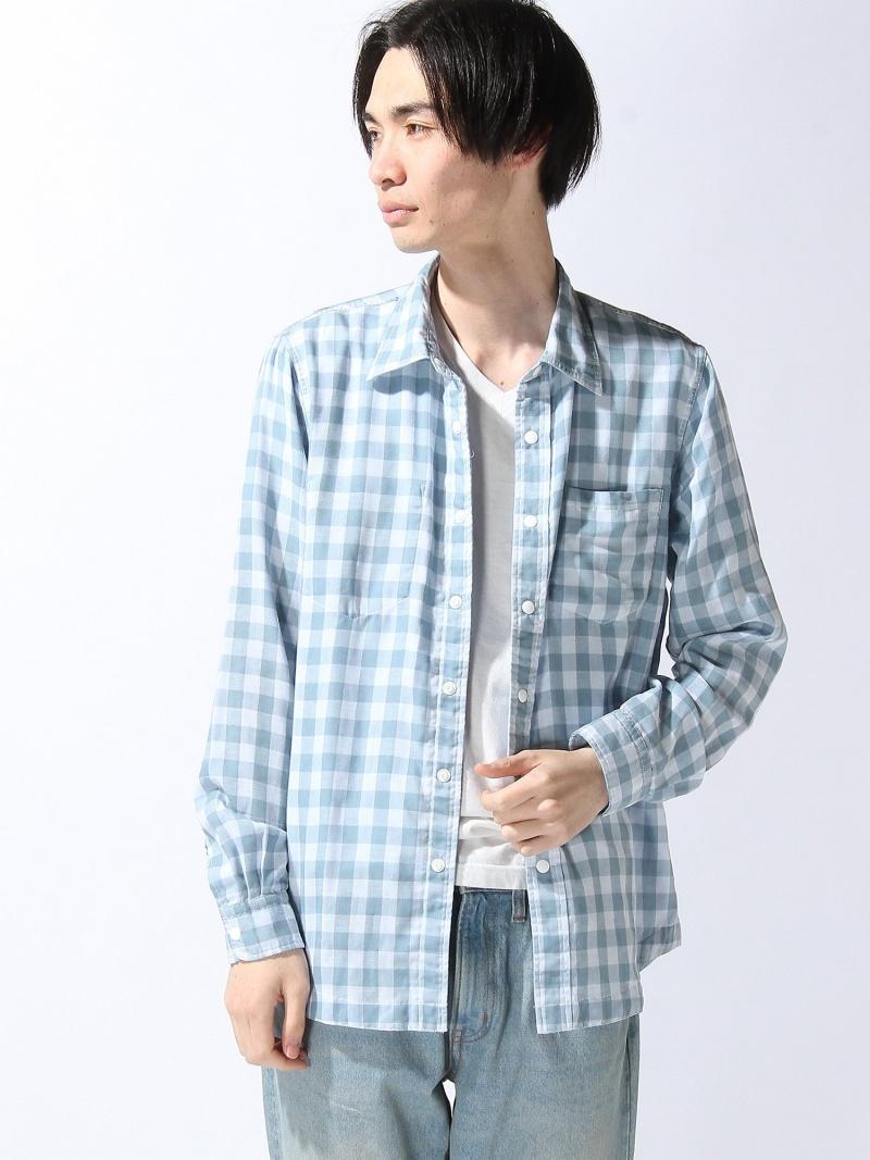 【SALE/20%OFF】AIGLE リバーシブルシャツ エーグル シャツ/ブラウス 長袖シャツ ブルー ホワイト【RBA_E】【送料無料】