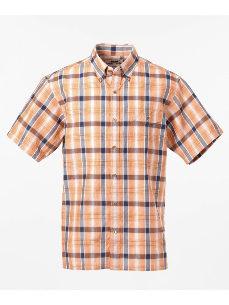 JOSEPH ABBOUD 【JOECOTTON】スラブマドラスシャツ ジョセフアブード シャツ/ブラウス 長袖シャツ オレンジ ネイビー【送料無料】