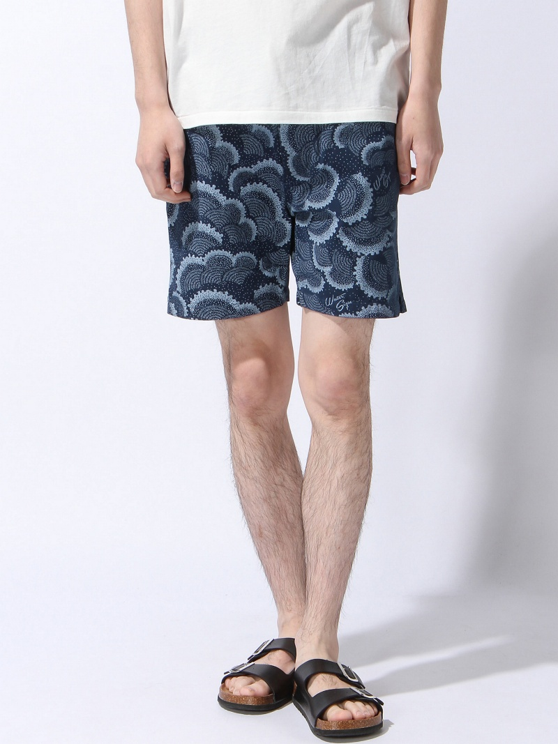 【SALE/20%OFF】MAGIC NUMBER Canvas Wave Pattern Short Pants マジックナンバー パンツ/ジーンズ ショートパンツ ネイビー【RBA_E】【送料無料】