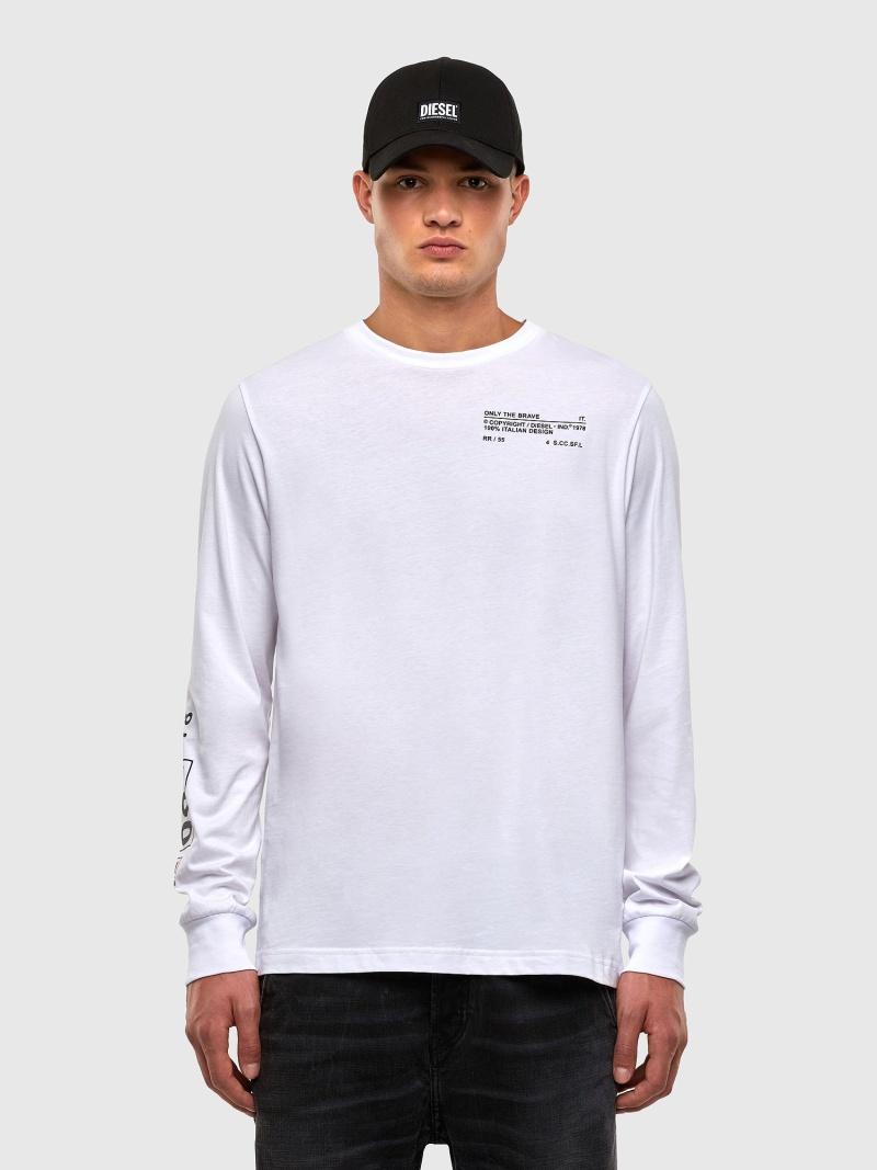 DIESEL T-JUST-LS-N62 ディーゼル カットソー Tシャツ【送料無料】