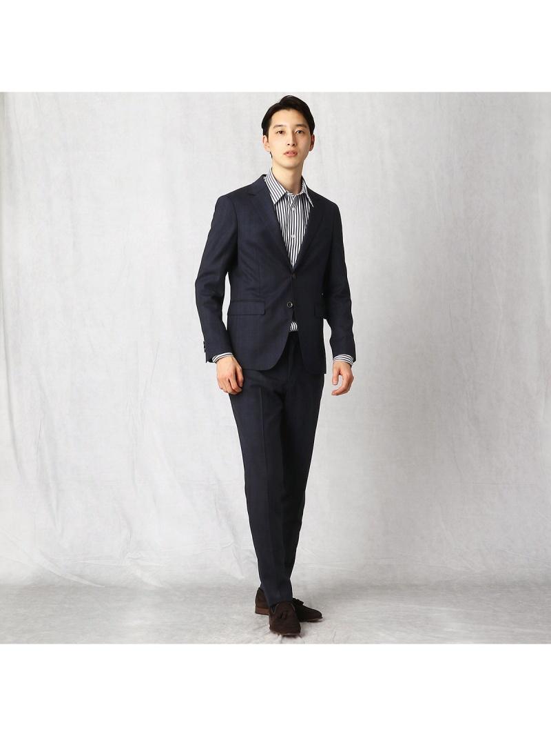 COMME CA MEN ウォッシャブルウールパッカブルスーツ コムサメン ビジネス/フォーマル スーツ ネイビー ブラウン【送料無料】