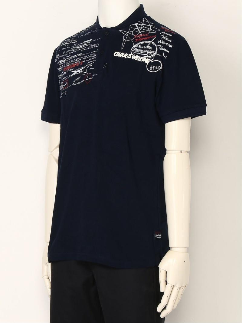 Desigual ポロシャツ POLO_TEO_REP デシグアル カットソー ポロシャツ ネイビー【送料無料】