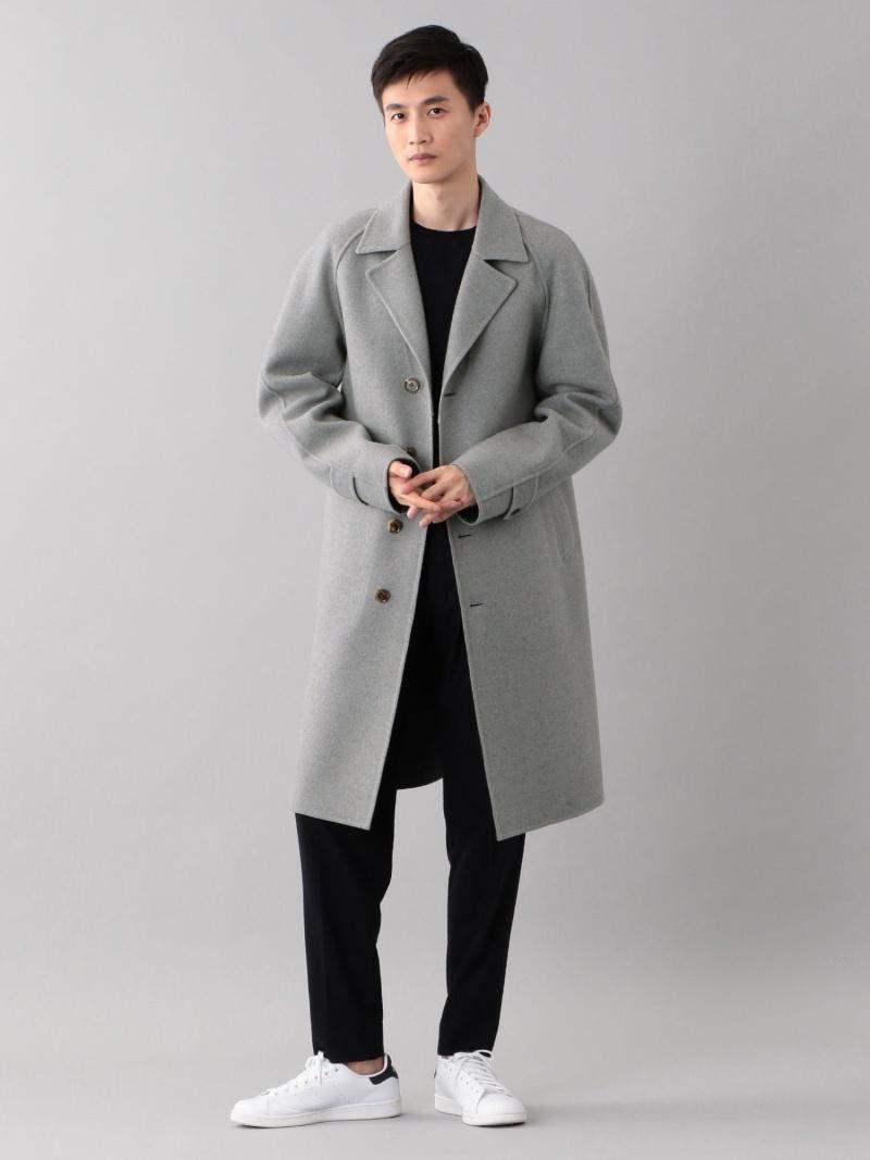 SANYO <Double Faced Coat>ウールリバーラグランテーラードコート サンヨー コート/ジャケット【送料無料】