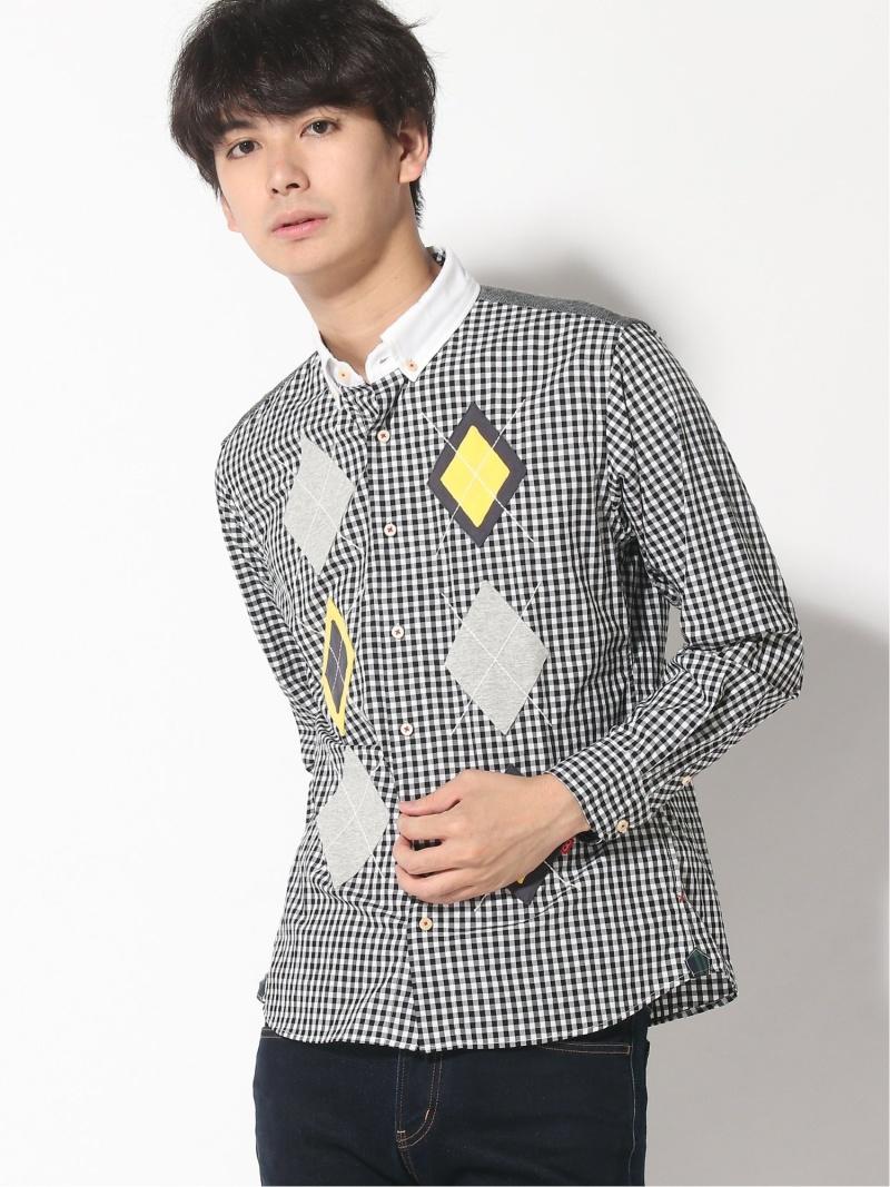 河谷シャツ (U)キャンベル カワタニシャツ シャツ/ブラウス 長袖シャツ ブラック【送料無料】