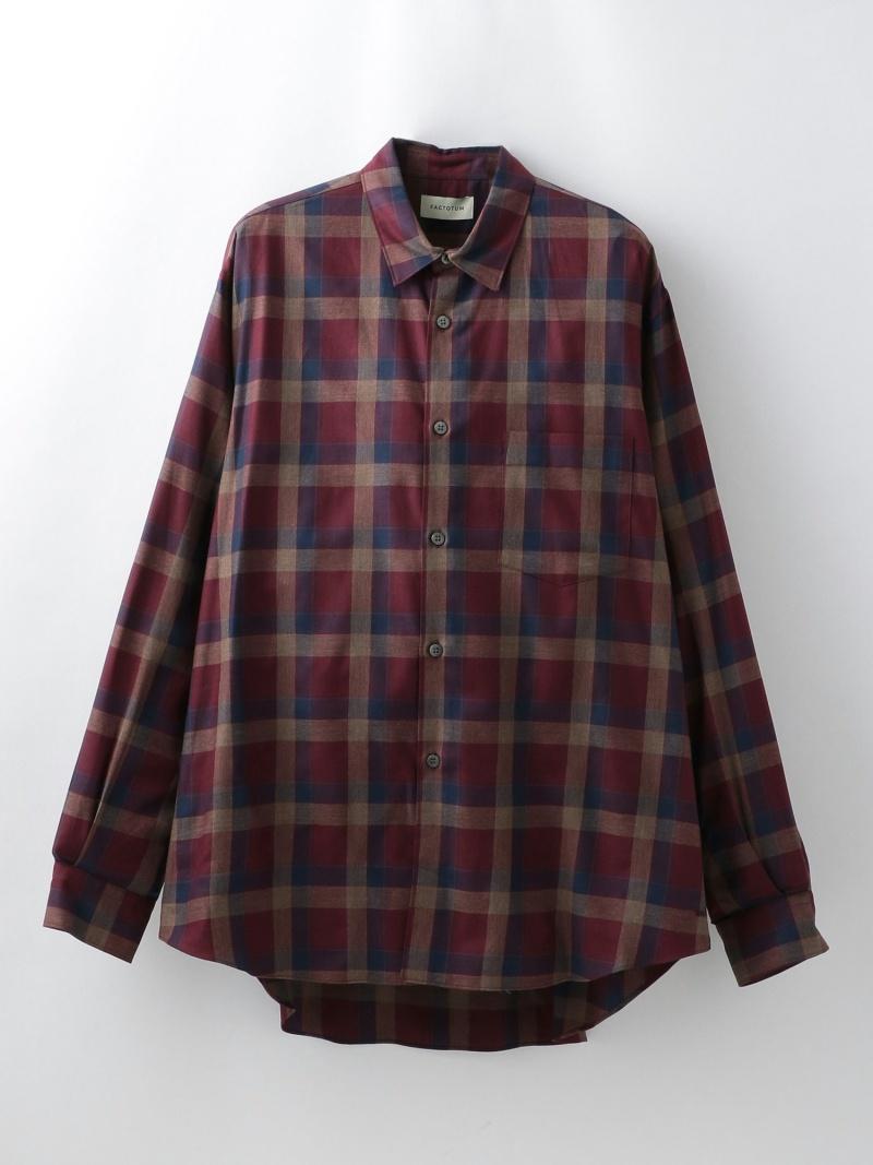 LOVELESS 【FACTOTUM】テンセルチェックワイドシャツ1060138 ラブレス シャツ/ブラウス 長袖シャツ レッド【送料無料】