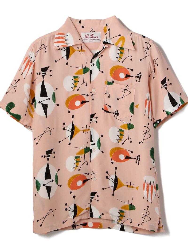 GARDEN TOKYO AlohaBlossom/アロハブロッサム/ATOMIC/アトミックシャツ ガーデン シャツ/ブラウス 長袖シャツ ピンク【送料無料】