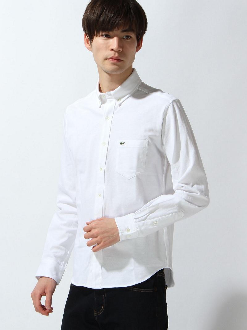 LACOSTE (M)オックスフォードボタンダウンシャツ (長袖) ラコステ シャツ/ブラウス【送料無料】