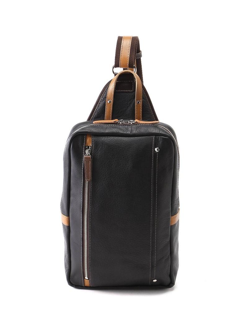 (M)オティアス Otias/カウレザーオイル仕上げタテ型ボディバッグ アンビリオン バッグ【送料無料】