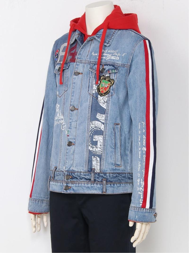 【SALE/20%OFF】Desigual ジャケット ADLEY デシグアル コート/ジャケット デニムジャケット ブルー【RBA_E】【送料無料】