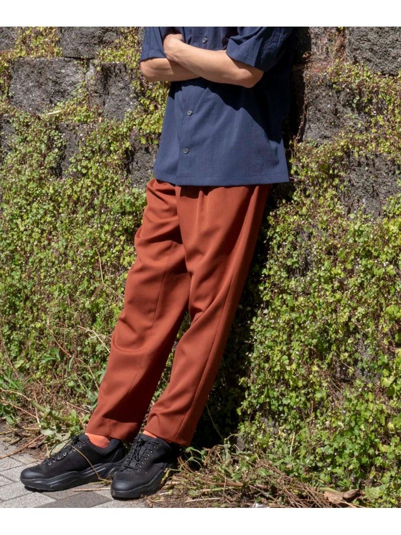 MAISON SPECIAL (M)T/Wワイドテーパードカラーパンツ メゾンスペシャル パンツ/ジーンズ ワイド/バギーパンツ ブラウン カーキ イエロー【送料無料】