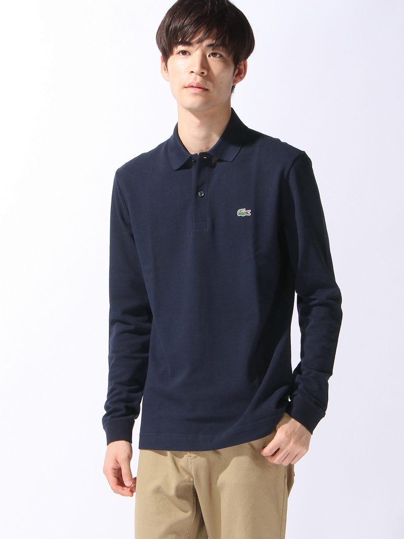 【SALE/20%OFF】LACOSTE (M)スリムフィットポロシャツ (長袖) ラコステ カットソー【RBA_S】【RBA_E】【送料無料】