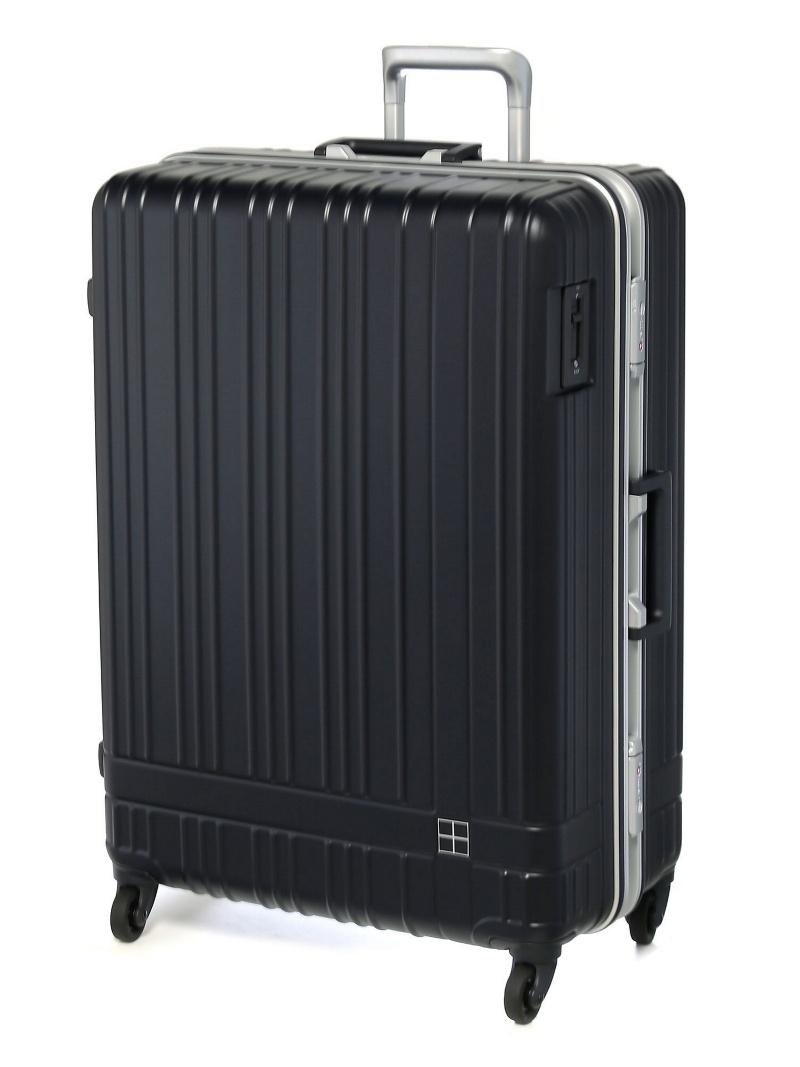 hands+ hands+/ライトスーツケース フレーム 92L ミッドナイトブルー トウキュウハンズ バッグ【送料無料】