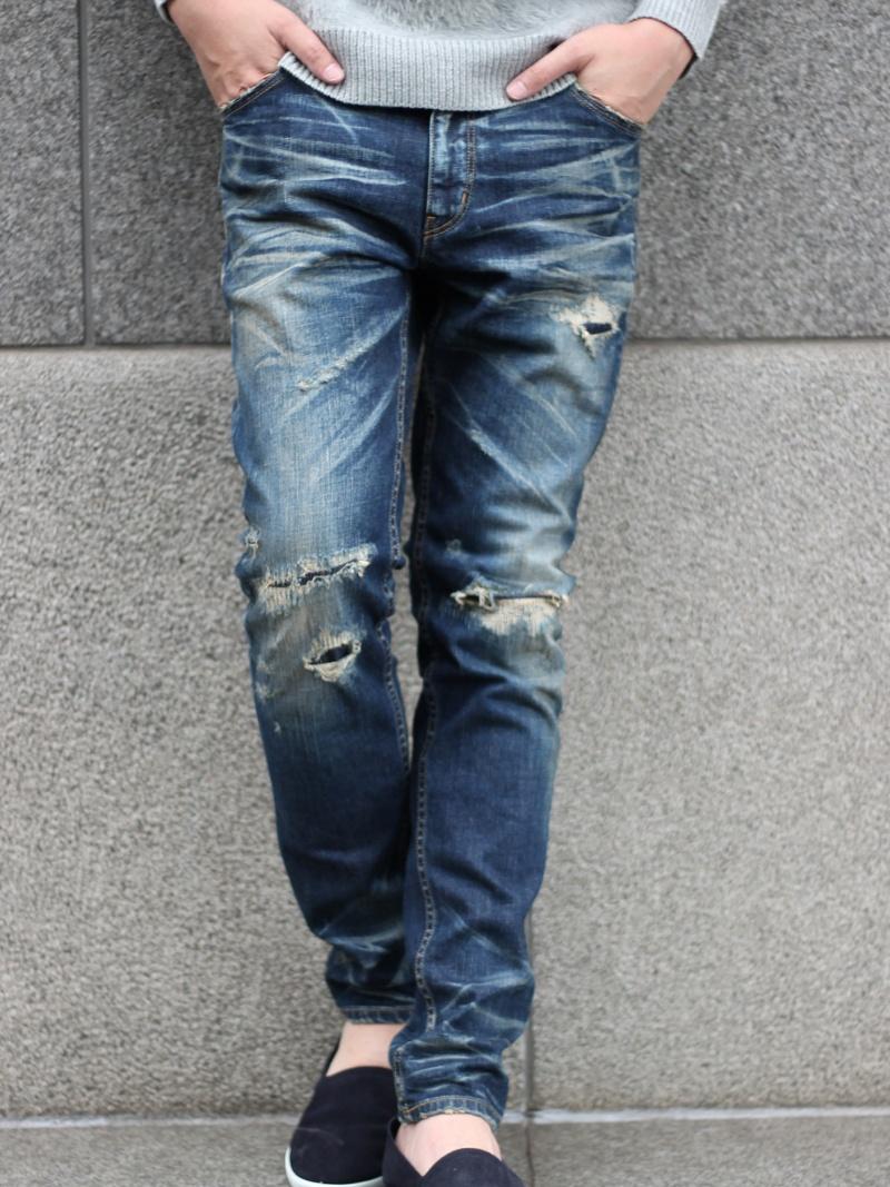 RATTLE TRAP 別注distressed jeans(スキニータイプ)<別注セレクト> メンズ ビギ パンツ/ジーンズ【送料無料】