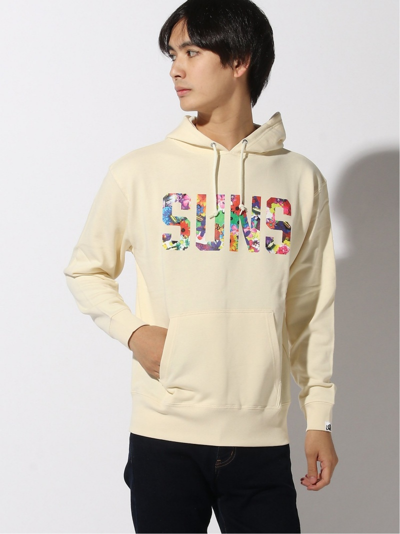 ANDSUNS (M)FLOWER GARDEN SUNS PULLOVER アンドサンズ カットソー パーカー ホワイト ブルー【送料無料】