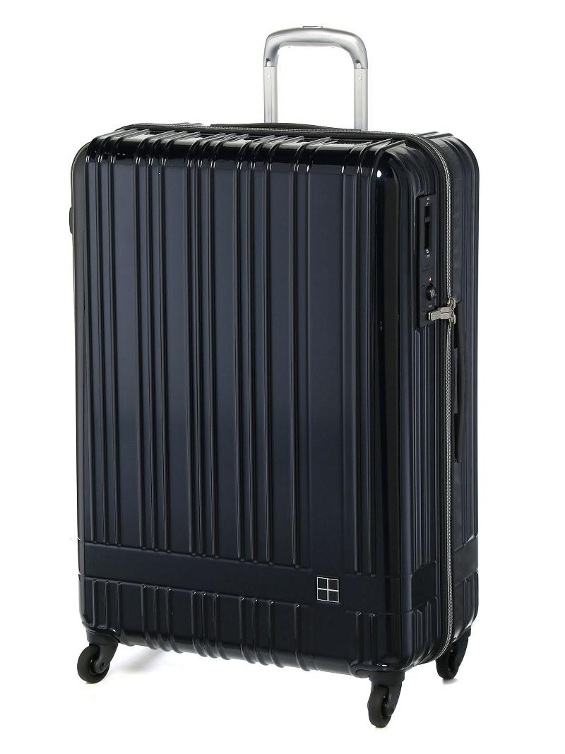 hands+ hands+/ライトスーツケース ジップタイプ 90L ミッドナイトブルー トウキュウハンズ バッグ【送料無料】