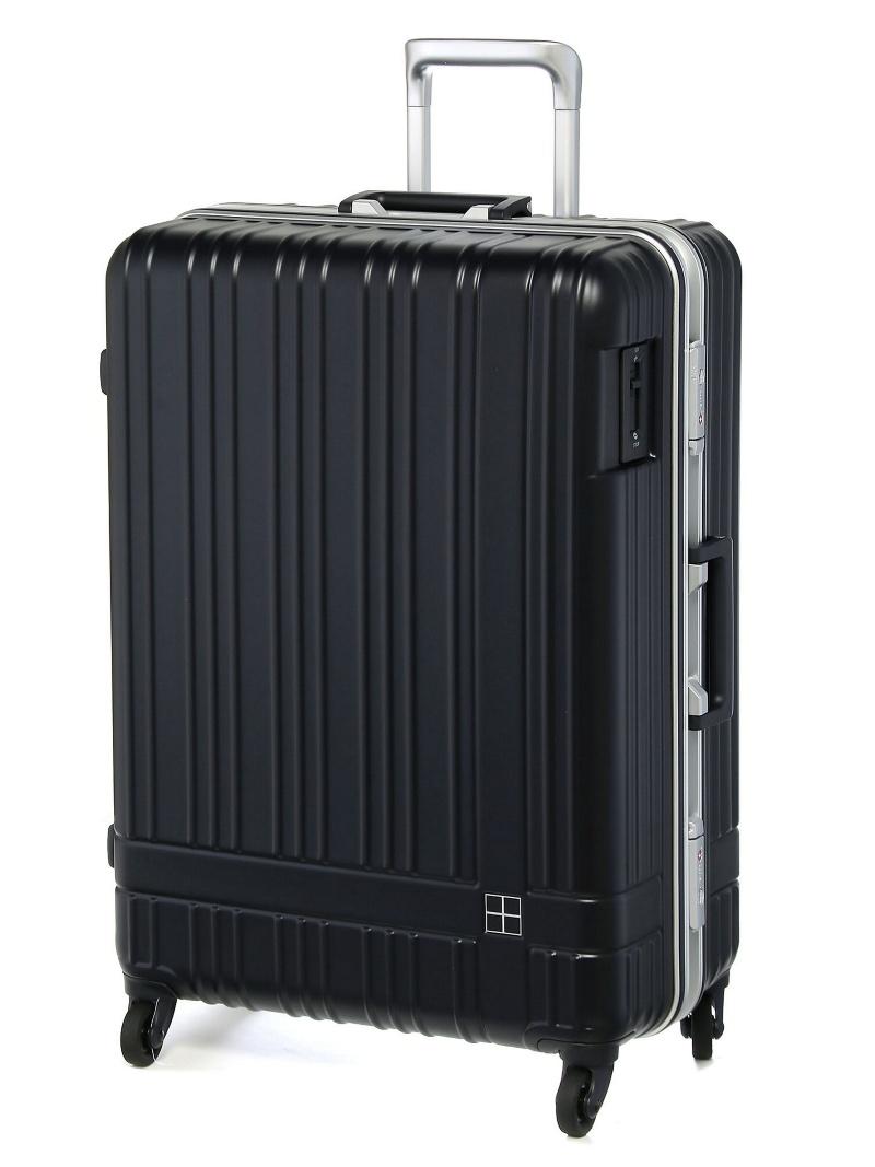hands+ hands+/ライトスーツケース フレーム 78L ミッドナイトブルー トウキュウハンズ バッグ【送料無料】