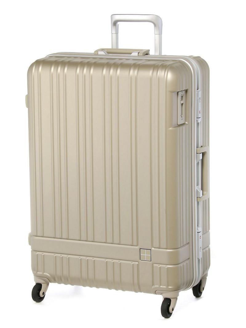 hands+ hands+/ライトスーツケース フレーム 78L シャンパンシルバー トウキュウハンズ バッグ【送料無料】
