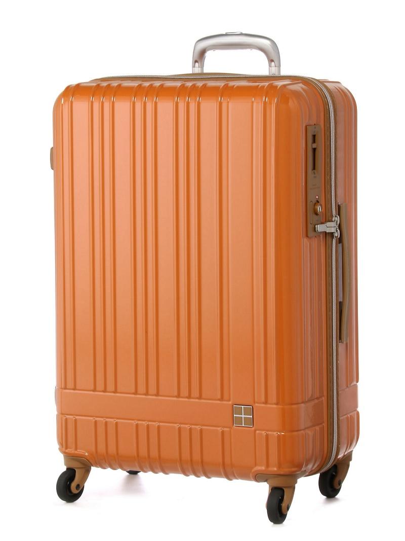 hands+ hands+/ライトスーツケース ジップタイプ 60L オレンジ トウキュウハンズ バッグ【送料無料】