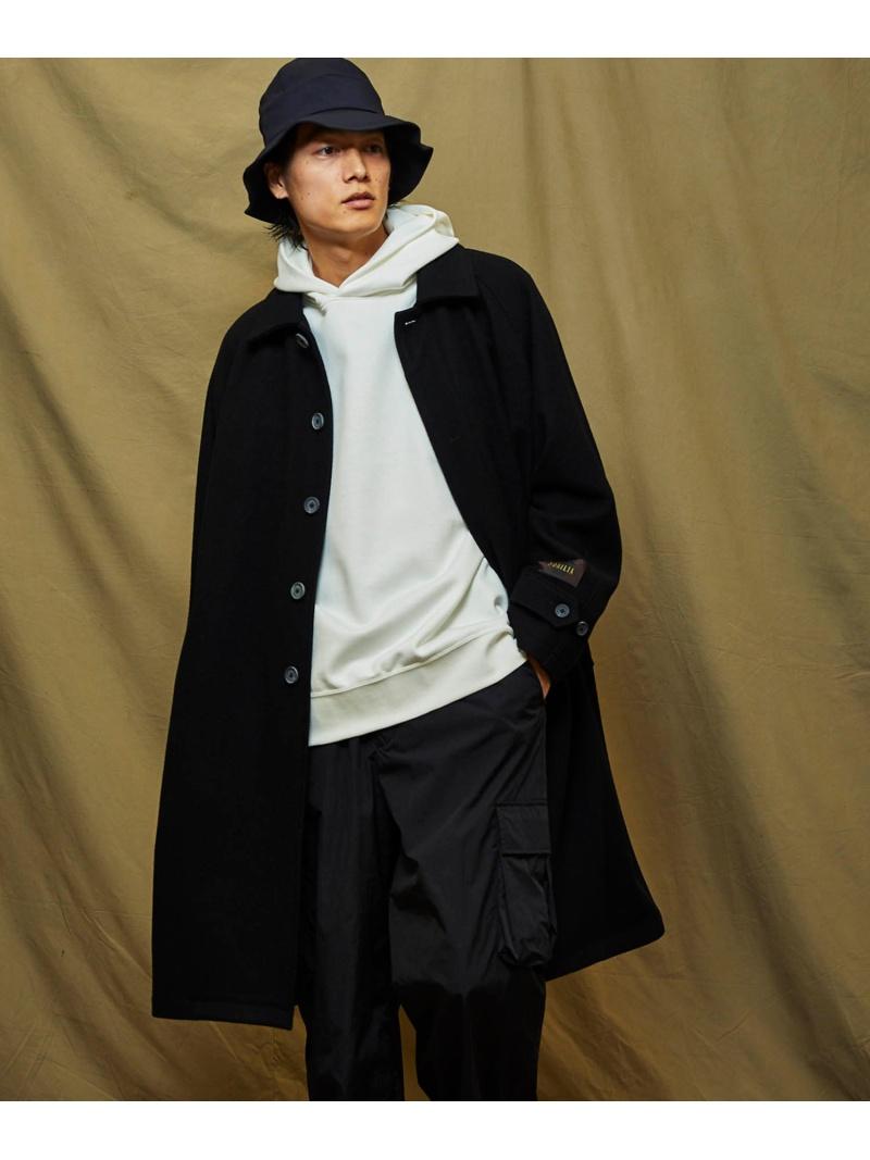 MAISON SPECIAL (M)800gNOBILIAヘビーメルトンステンコート メゾンスペシャル コート/ジャケット ハーフコート ブラック ネイビー【送料無料】