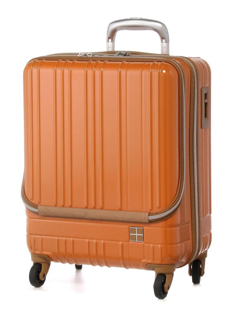 hands+ hands+/ライトスーツケース フロントオープンタイプ 38L オレンジ トウキュウハンズ バッグ【送料無料】