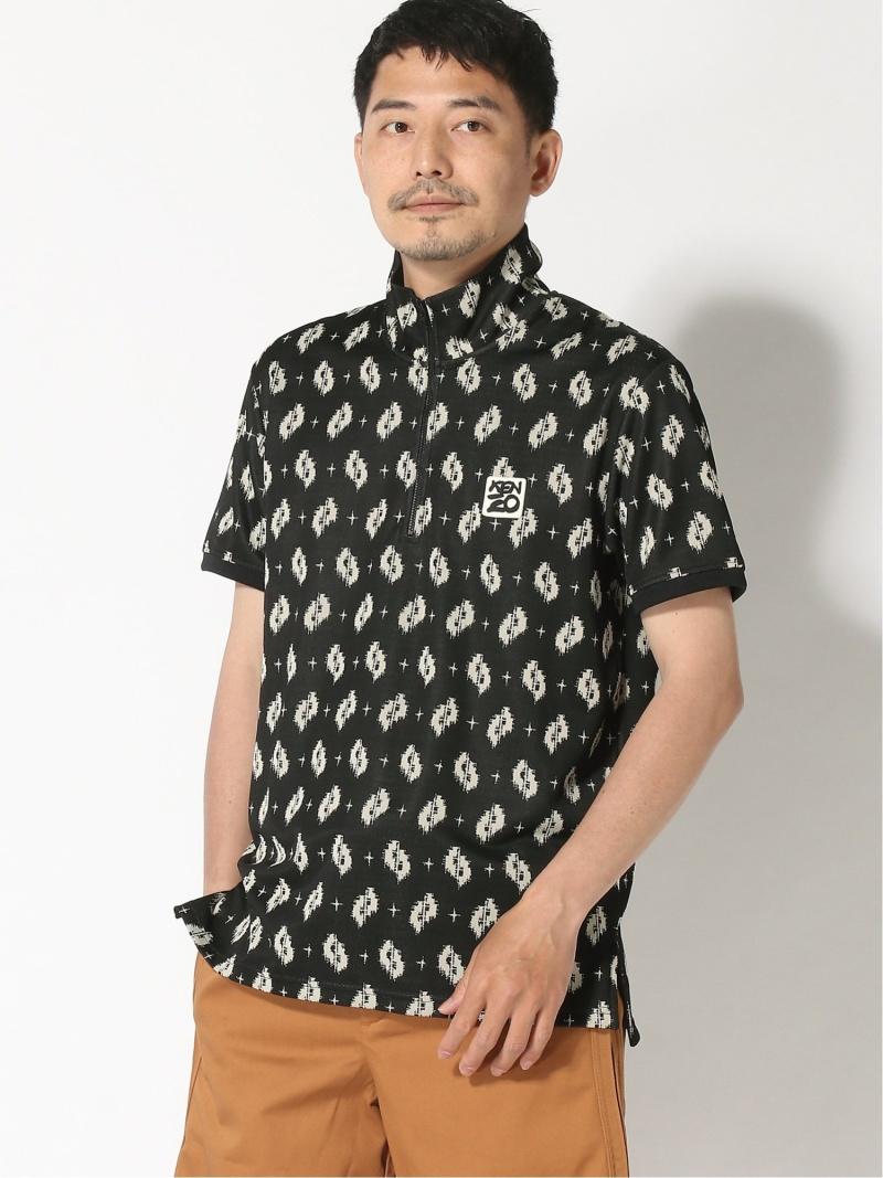 【SALE/40%OFF】KENZO (M)Ikat Jacquard Zip Up Polo ケンゾー カットソー ポロシャツ ブラック【RBA_E】【送料無料】