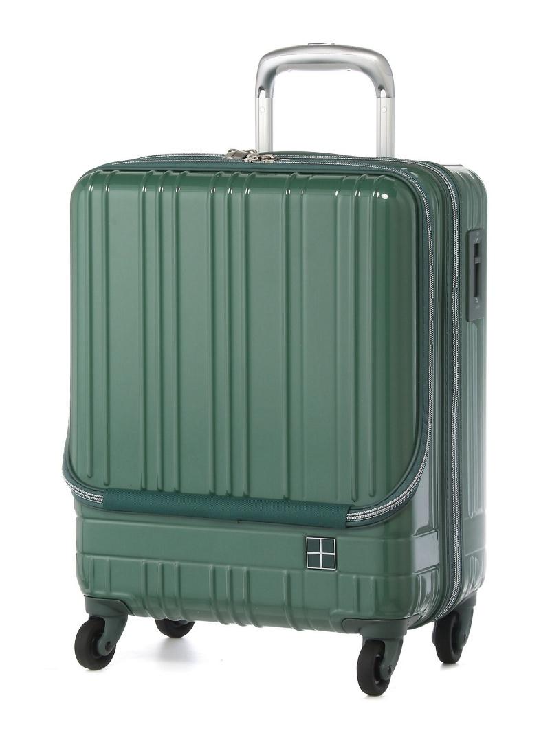 hands+ hands+/ライトスーツケース フロントオープンタイプ 38L グリーン トウキュウハンズ バッグ【送料無料】