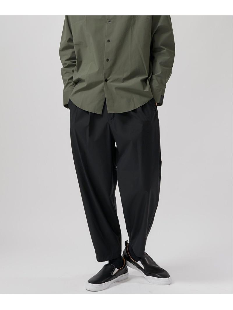 ATTACHMENT T400ノイズコーティングテーパードパンツ ステュディオス パンツ/ジーンズ パンツその他 ブラック ベージュ【送料無料】