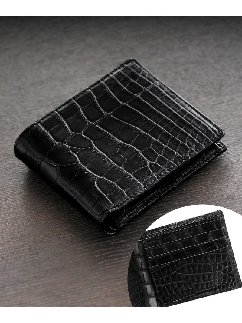 sankyoshokai アリゲーター折り財布無双マット加工一枚革 サンキョウショウカイ 財布/小物 財布【送料無料】