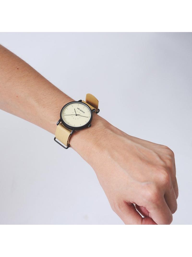 ABAHOUSE LASTWORD 【MrBOHO】CASUAL腕時計 アバハウス ファッショングッズ 腕時計 ベージュ ブラック グリーン ネイビー【送料無料】