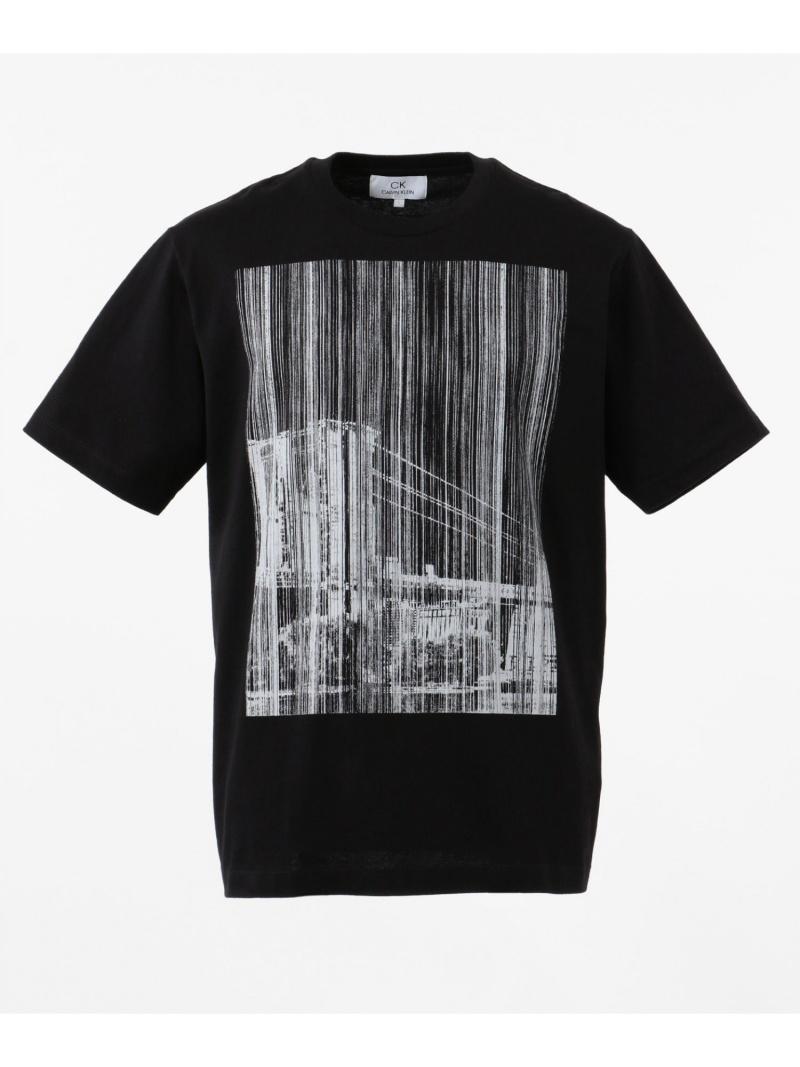 CK CALVIN KLEIN NYブリッジグラフィック Tシャツ CK カルバン・クライン カットソー Tシャツ ブラック ホワイト【送料無料】