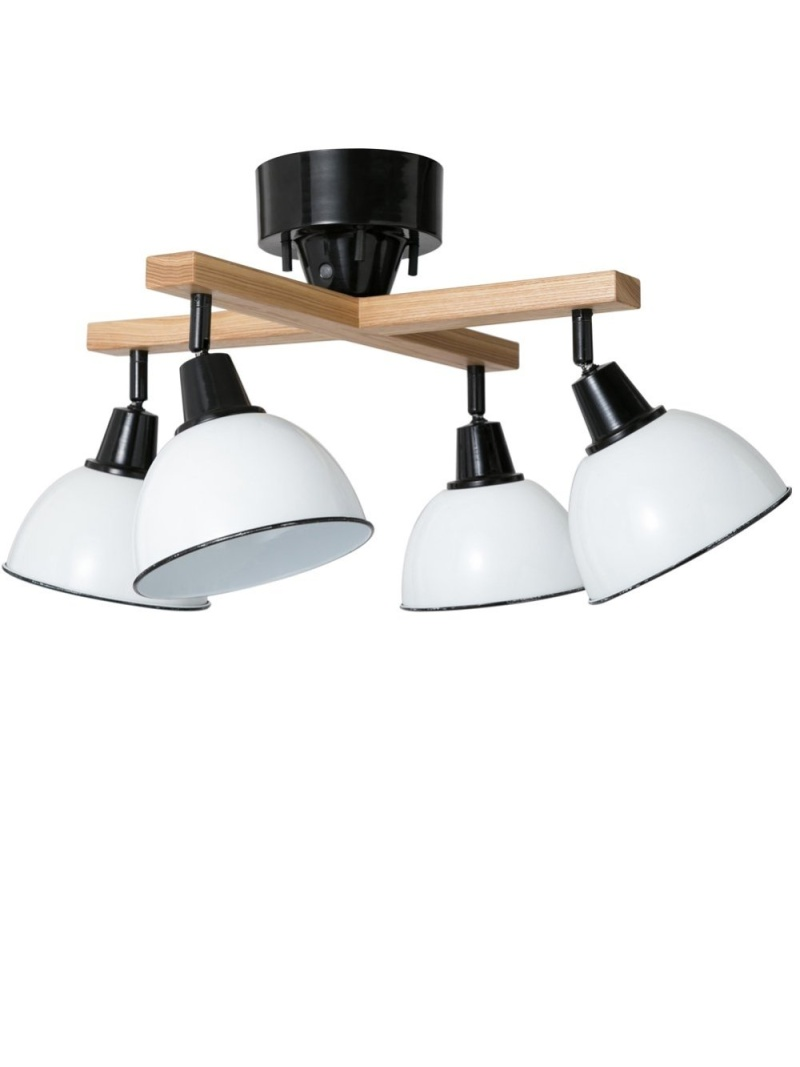 TIMELESS COMFORT WOOD ROD-CROSS- 4CEILING LAMP タイムレス コンフォート 生活雑貨 照明 ホワイト【送料無料】