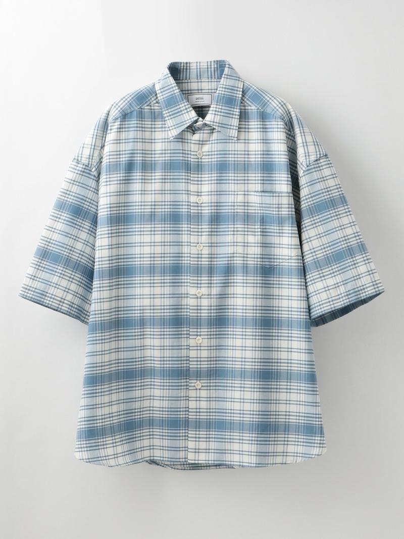 LOVELESS 【amialexandremattiussi】MENチェックシャツE19C208.414 ラブレス シャツ/ブラウス 長袖シャツ ブルー【送料無料】