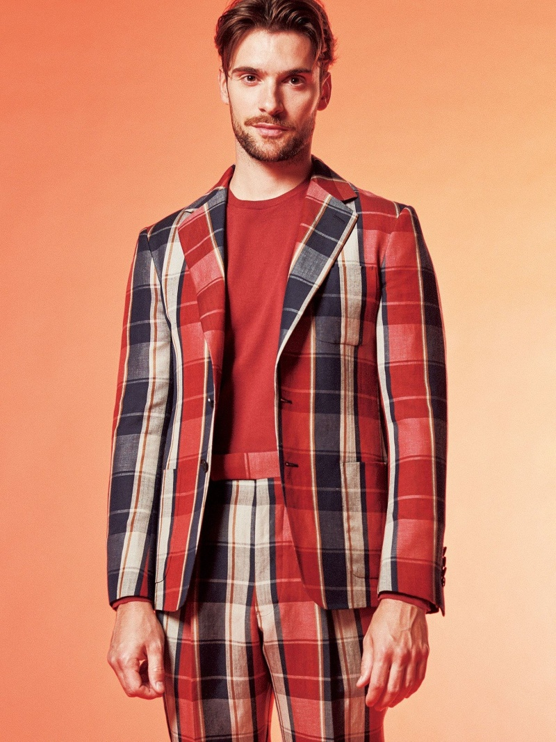TOMORROWLAND MEN ウールリネントロピカル 2Bテーラードジャケット FOX BROTHERS トゥモローランド コート/ジャケット テーラードジャケット【送料無料】