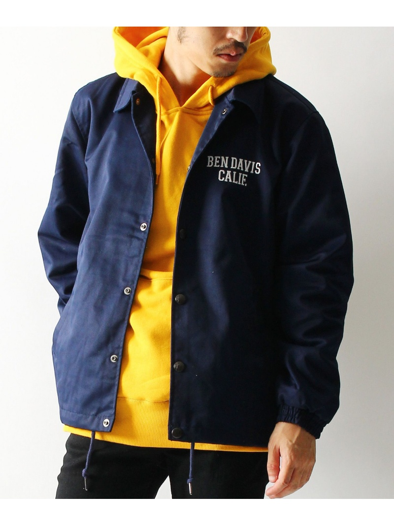 BEN DAVIS white label BEN DAVIS / ワッペン コーチジャケット ナバル コート/ジャケット【送料無料】