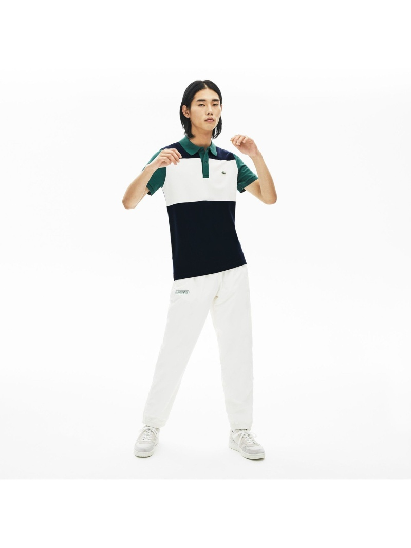 【SALE/30%OFF】LACOSTE スリムフィットストレッチカラーブロックポロシャツ(半袖) ラコステ カットソー ポロシャツ【RBA_E】【送料無料】